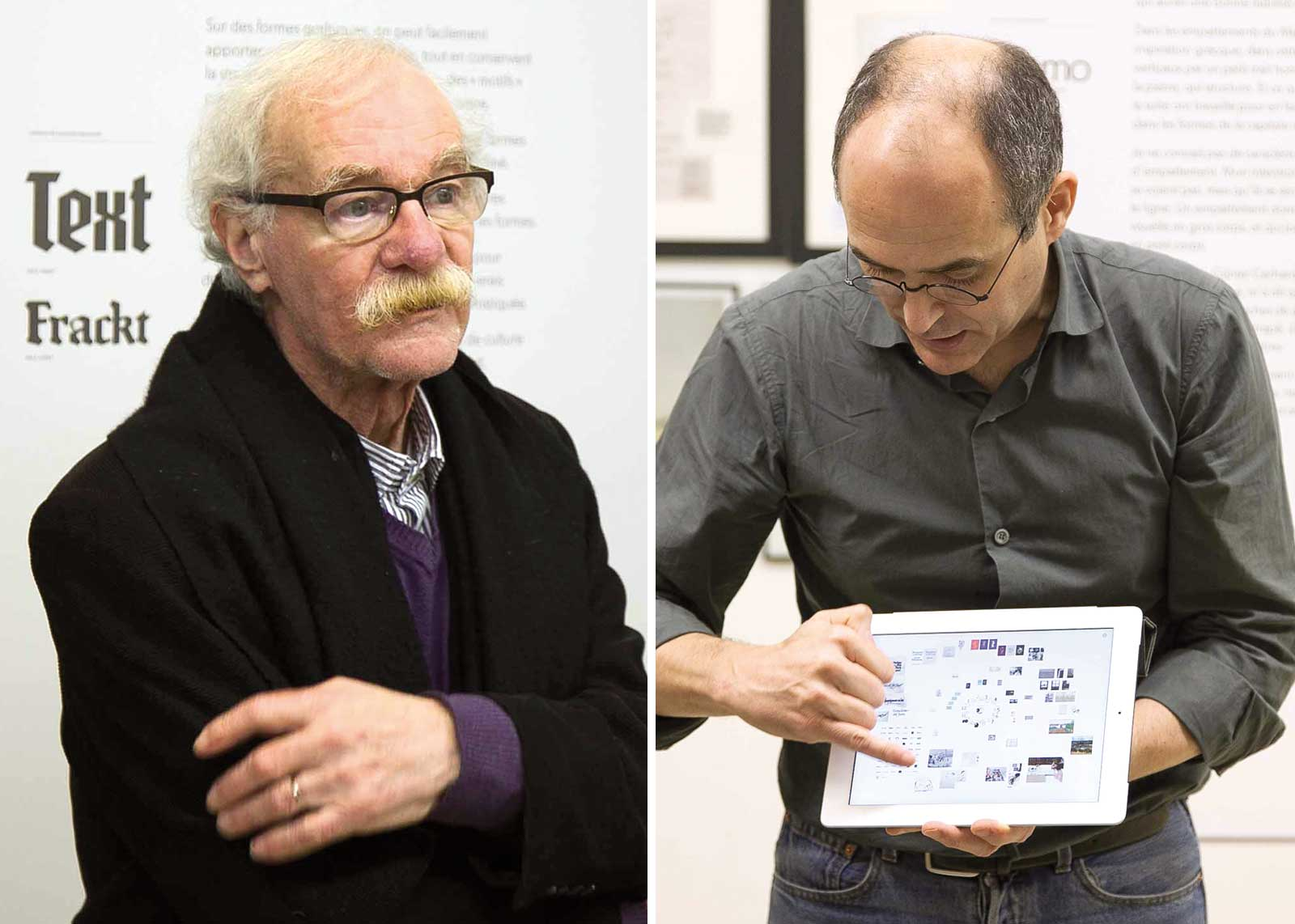 Albert Boton, visite guidée avec les Rencontres de Lure. Albert Boton, Olivier Nineuil (photo Denis Patouillard).