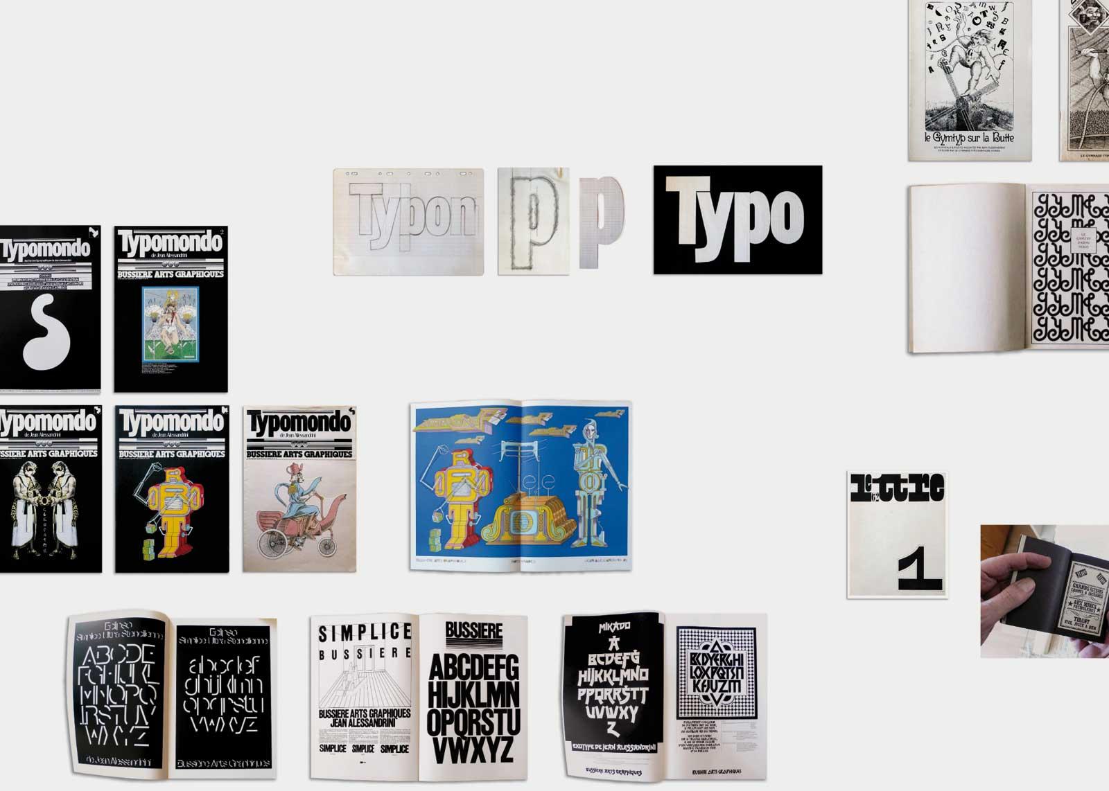 Jean Alessandrini — Revue Typomondo, pour bussière arts graphiques (1983).