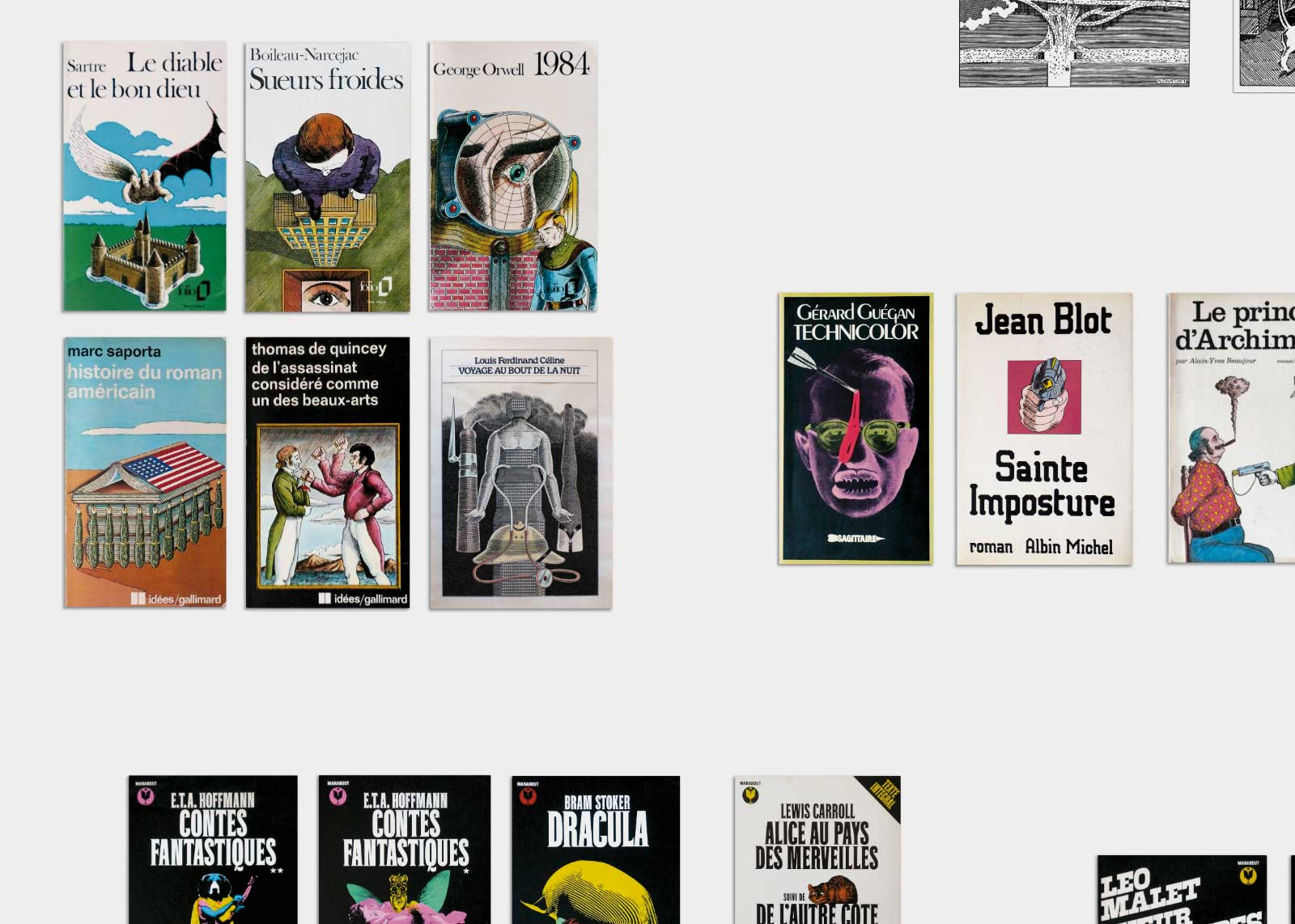 Jean Alessandrini — Couvertures de livres.