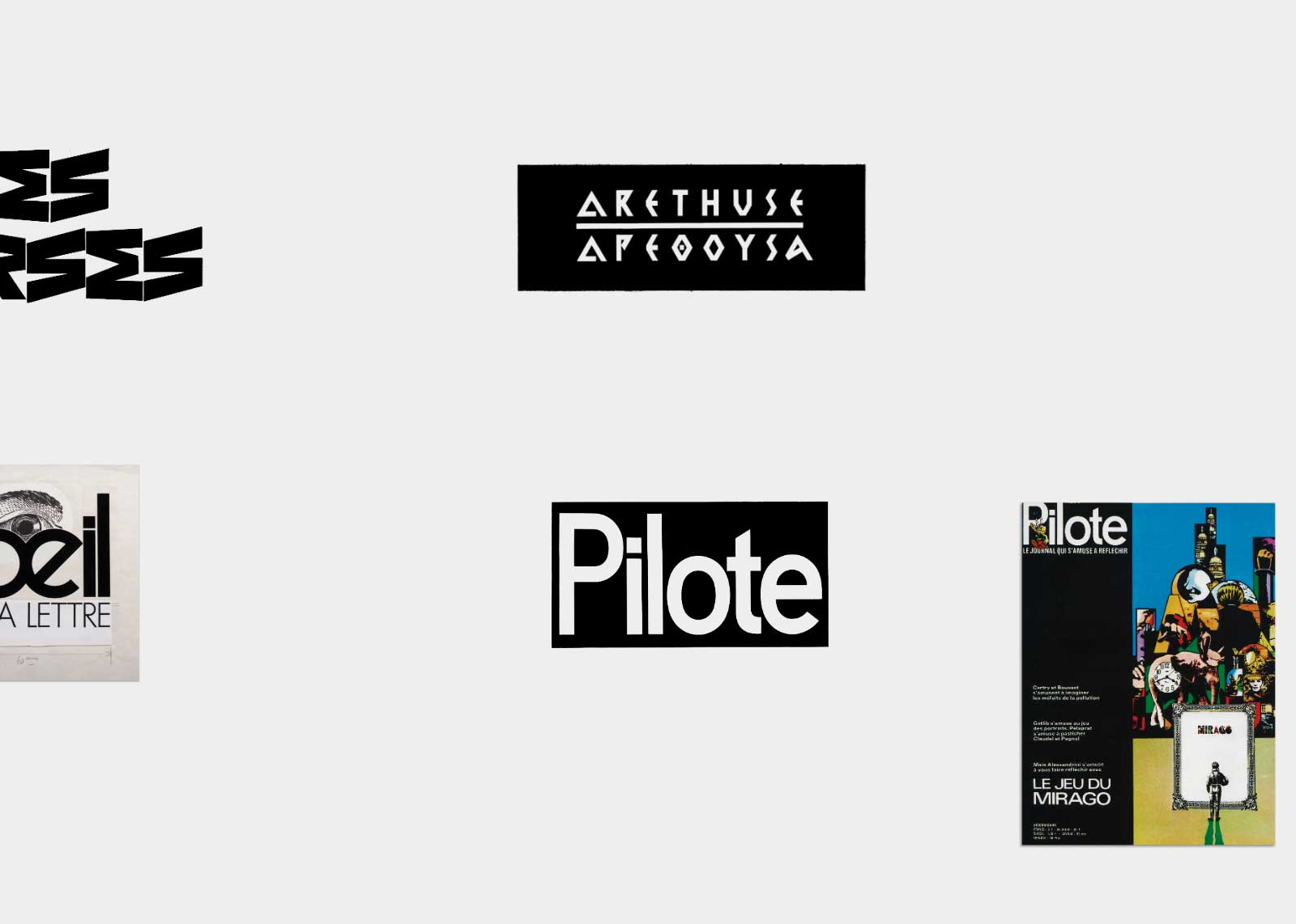 Jean Alessandrini — Création de logotypes.