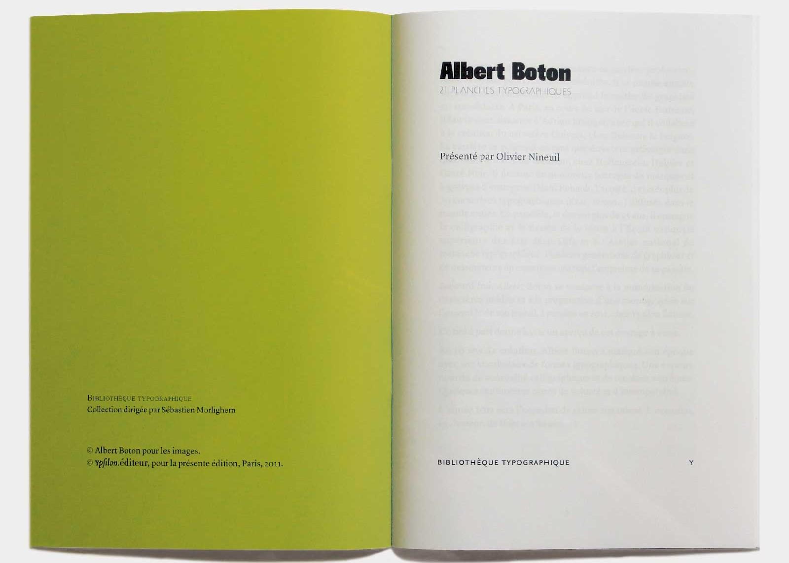 Page de titre, collection Bibliothèque typographique.
