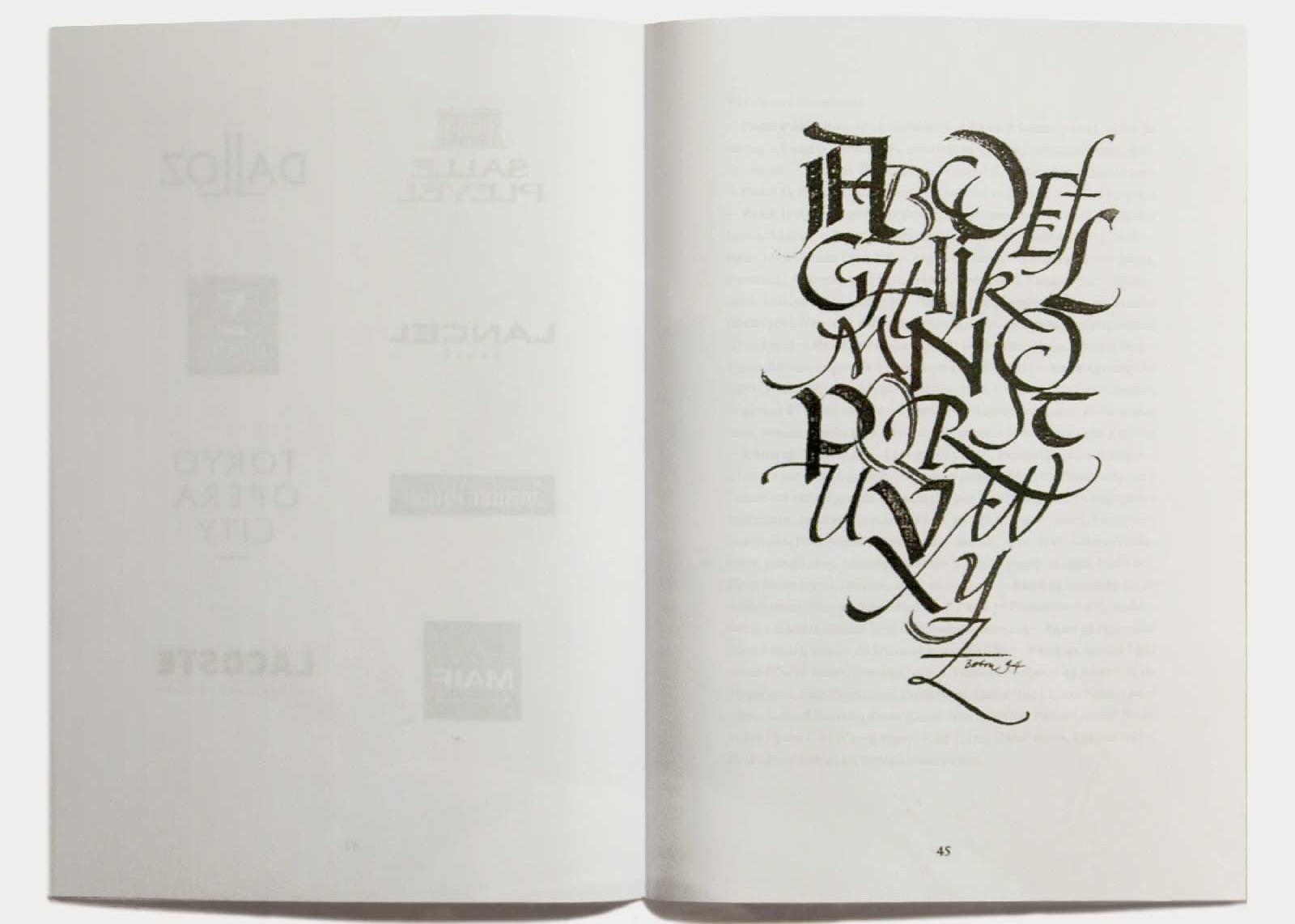 Page 45 — Calligraphie sur papier.