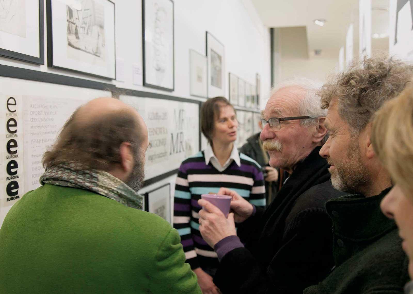 Albert Boton, visite guidée avec les Rencontres de Lure. Francis Délivré, Claire Hollenstein, Albert Boton (photo Denis Patouillard).